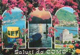 Saluti Da COMO - Funicolare Per Brunate - Tramonto - Tempio Voltiano - Como