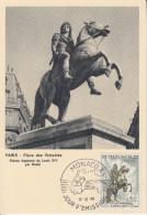 Carte  Maximum  1er  Jour   MONACO    Roi   LOUIS  XIV  Par  BOSIO   1968 - Royalties, Royals