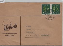 1948 Pro Juventute J126 Fingerhut - Brief Von Wald Zürich Nach Steinen (Hebula Hozwarenfabrikation Wald ZH) - Pro Juventute