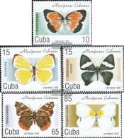 Kuba 4014-4018 (kompl.Ausg.) Postfrisch 1997 Einheimische Schmetterlinge - Kuba