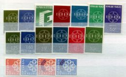 EUROPA  ( 1959 ) : ANNEE  COMPLETE  DE  13  VALEURS  , TIMBRES  NEUF  SANS  TRACE  DE  CHARNIERE , A  SAISIR . - Europa-CEPT