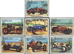 Laos 750-756 (completa.edizione) Usato 1984 Vecchio Racecar - Laos