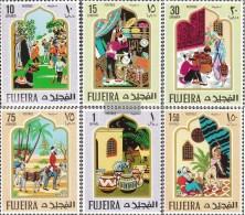 Fujeira 186A-191A (completa Edizione) MNH 1967 Oriental Fairytale - Fujeira