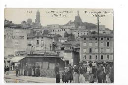 LE PUY EN VELAY  Carte Photo  1907   Vue Prise De L'avenue De La Gare         - L1 - Le Puy En Velay