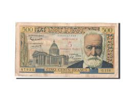 France, 5 Nouveaux Francs On 500 Francs, 1955-1959 Overprinted With ''Nouveau... - 1955-1959 Overprinted With ''Nouveaux Francs''