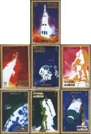 Ajman 1014A-1020A (completa Edizione) Usato 1971 Apollo 16 - Emiratos Árabes Unidos
