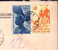 Lettre Sénégal Dakar Harati Commerçant Anvers Belgique Recommandé 1948 - Sénégal (1887-1944)