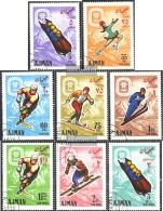 Ajman 199A-206A (completa Edizione) Usato 1967 Olympics. Giochi Invernali '68, Grenoble - Emirati Arabi Uniti