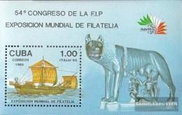 Kuba Block 91 (completa.edizione) Usato 1985 ITALIA `85 - Hojas Y Bloques