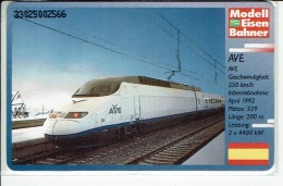 Tren Bahn Train High Speed AVE Spain - Germany Phonecard O 602 H - Trenes
