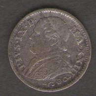 VATICANO STATO PONTIFICIO 10 SOLDI 1869 PIUS IX AG SILVER - Vaticano