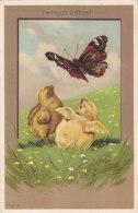 Kücken Mit Schmetterling - Fröhliche Ostern - Sign. Mailik - 1906    (160728) - Mailick, Alfred