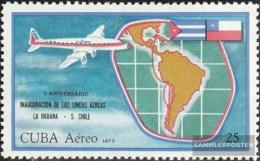 Kuba 1781 (completa Edizione) MNH 1972 Compagnia Aerea L'Avana-Santiago De Cile - Kuba