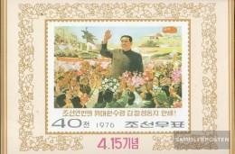 Nord-Korea Block 22 (completa Edizione) Usato 1976 Kim II Sung - Korea, North
