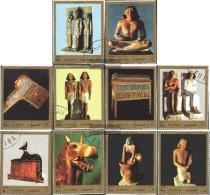 Fujeira 1229A-1238A (completa Edizione) Usato 1972 Egiziano Antico Arte - Fujeira