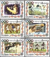 Dubai 410-415 (completa Edizione) Usato 1972 Olimpiade '72, Monaco Di Baviera - Dubai
