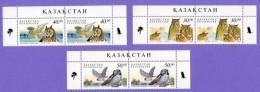 Kazakhstan 2001. Owls. Fauna. Birds  Mi# 322-324 - Hiboux & Chouettes