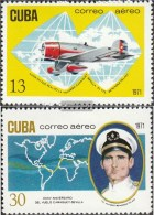 Kuba 1661-1662 (kompl.Ausg.) Postfrisch 1971 Flug Von Camaguey Nach Sevilla - Kuba