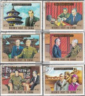 Umm Al Kaiwain 1699A-1704A (completa Edizione) Usato 1972 Visita Di Nixon In Cina - Umm Al-Qiwain