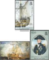 Salomoninseln 1279-1281 (kompl.Ausg.) Postfrisch 2005 Seeschlacht Von Trafalgar - Isole Salomone (1978-...)
