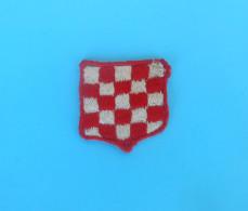 CROATIA ARMY - Nice Old And Rare Patch * Small Size * Croatie Armee Ecusson Kroatien Flicken Croazia Croacia - Patches