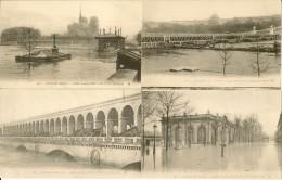 LOT DE 10 CARTES    INONDATIONS DE PARIS   1910 - Inondations