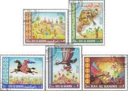 Ras Al Chaima 156A-160A (completa Edizione) Usato 1967 Fairytale Tausendundeiner Notte - Ra's Al-Chaima