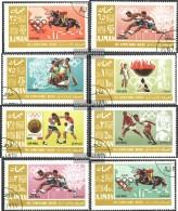 Ajman 189A-196A (completa Edizione) Usato 1967 Olympics Estate, Messico - Emiratos Árabes Unidos