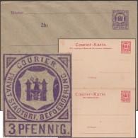 Allemagne 1887. Poste Privée De Magdeburg. 2 Entiers Postaux. Représentation Païenne,  Jeune Fille, Magde, Ou Victoire - Enveloppes