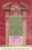 D24614 CARTE MAXIMUM CARD 1957 USA - CORINTHIAN STYLE - INSTITUTE OF ARCHITECTS CP ORIGINAL - Architecture
