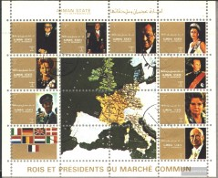 Ajman 2596-2604 Minifoglio (completa Edizione) Usato 1972 Leader - Emiratos Árabes Unidos
