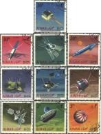 Ajman 257A-266A (completa Edizione) Usato 1968 Studio Di Spazio - Emirati Arabi Uniti