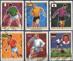 Ajman 525A-530A (completa Edizione) Usato 1970 Calcio-WM '70, Messico - Emiratos Árabes Unidos