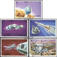Sharjah 994A-998A (completa Edizione) Usato 1972 Luna 9 - Sharjah