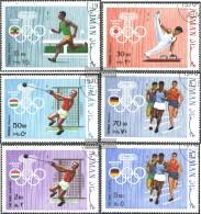 Ajman 570A-575A (completa Edizione) Usato 1970 Olympics. Estate 1960-72 - Emiratos Árabes Unidos
