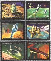 Ajman 1298A-1303A (completa Edizione) Usato 1971 Veicoli Spaziali - Emiratos Árabes Unidos