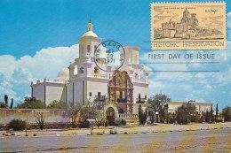 D24623 CARTE MAXIMUM CARD FD 1971 USA - SANTA CRUZ VALLEY MISSION SAN DIEGO CP ORIGINAL - Architecture