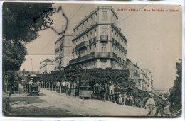 - Alger - MUSTAPHA - Rue Michelet Et Liberté, Tramway, Pissotiére, écrite En 1905, Pour Perpignan, BE, Scans. - Alger