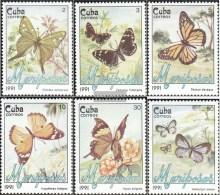 Kuba 3452-3457 (kompl.Ausg.) Postfrisch 1991 Schmetterlinge - Kuba