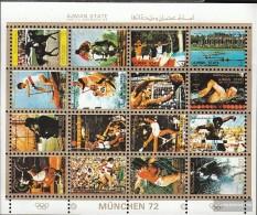 Ajman 2621-2636 Minifoglio (completa Edizione) Usato 1972 Olympics Giochi `72, Monaco Di Baviera - Emiratos Árabes Unidos