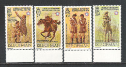 ISOLA DI MAN- 1976: 4 VALORI + BF NUOVI S.T.L. PER IL BICENTENARIO INDIPENDENZA DEGLI STATI UNITI -IN OTTIME CONDIZIONI. - Unabhängigkeit USA