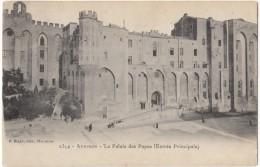 France, Avignon, Le Palais Des Papes, Entree Principale, 1910 Used Postcard [18314] - Avignon (Palais & Pont)