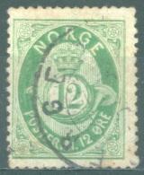 NORWAY  - 1884 - USED/OBLIT. - POSTHORN  -  Yv 40 Mi 40 - Lot 14379 - Norvège