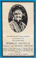 Bidprentje Van Rosalie Savels - Heist A Zee - Zuienkerke - 1835 - 1935 (100 Jaar) - Images Religieuses