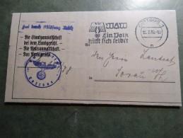 Enveloppe-lettre De 1937(infraction Au Code De La Route à Cottbus(Allemagne)et Condamnation. - Germany