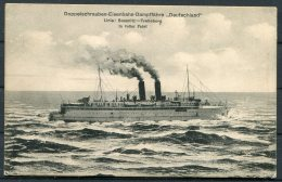 Germany Sassnitz - Trelleborg 'Deutschland' Eisenbahn Railway Ship Postcard - Ferries
