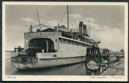 Germany Sassnitz - Trelleborg PREUSSEN Ship Postcard - Ferries