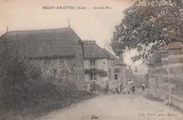 BUCEY EN OTHE - LA GRANDE RUE - BELLE CARTE ANIMEE -  TOP !!! - Autres Communes