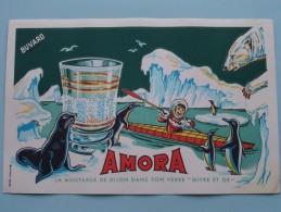 """AMORA La Moutarde De Dijon Dans Son Verre """" GIVRE Et OR """" ( Details Zie Foto ) ! - Moutardes"""