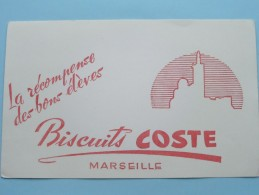Biscuits COSTE Marseille ( La Récompense Des Bons élèves ) ( Details Zie Foto ) ! - Sucreries & Gâteaux